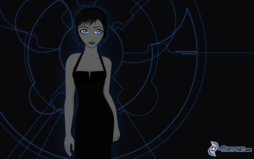 gezeichnete Frau, Kreisen