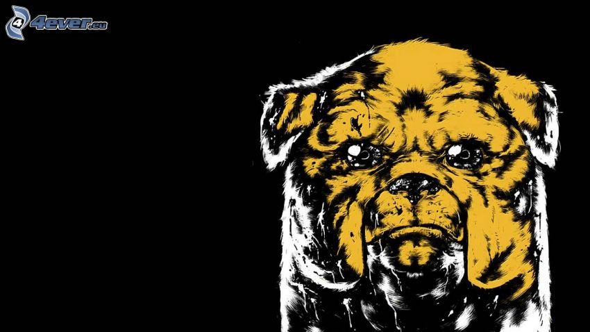 gezeichneter Hund