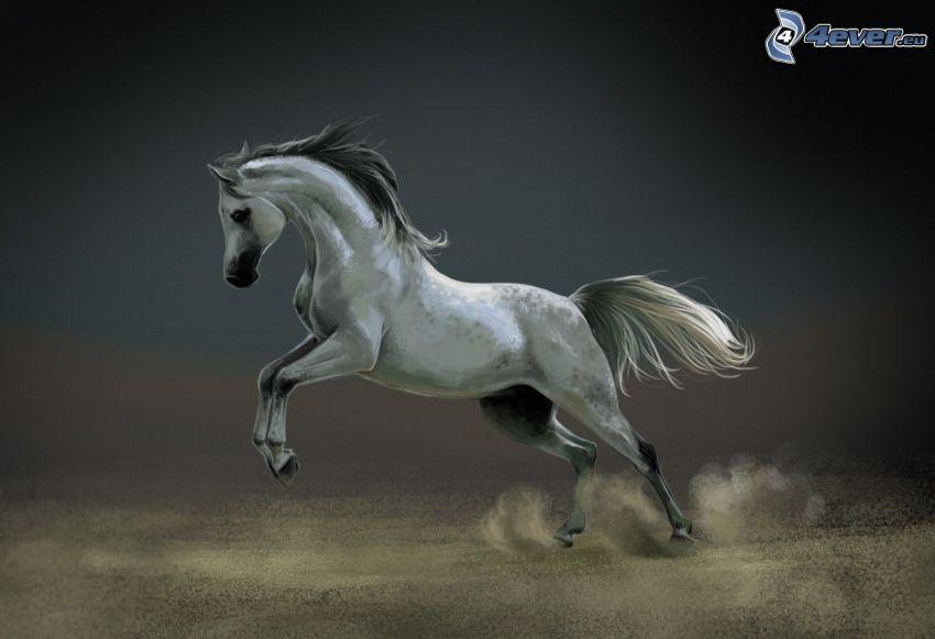 gezeichnetes Pferd