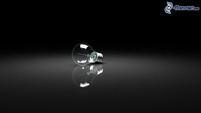 Glühlampe, schwarzem Hintergrund