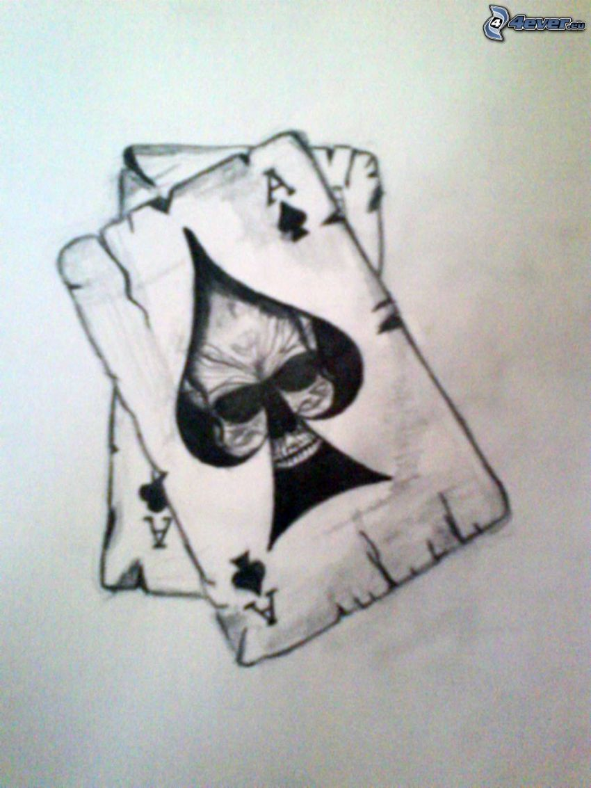 Ass, Sensenmann, Karten