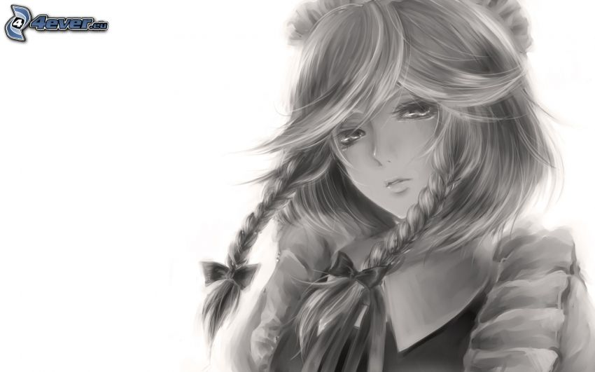 Cartoon-Mädchen