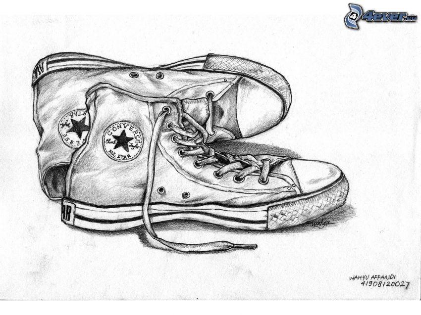 Converse All Star, Converse, cartoon-Tennisschuhe