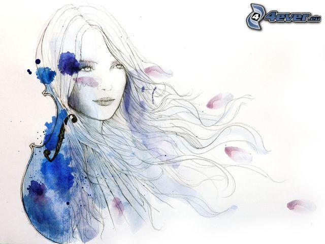 gezeichnete Frau, Kleckse