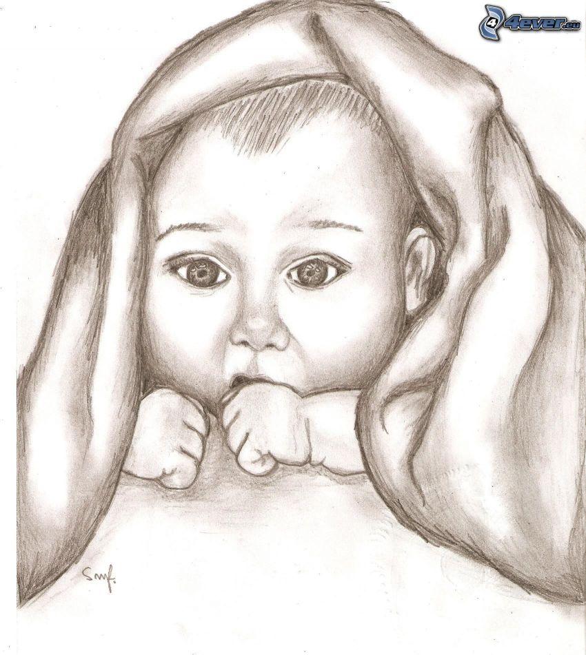 gezeichnetes Baby