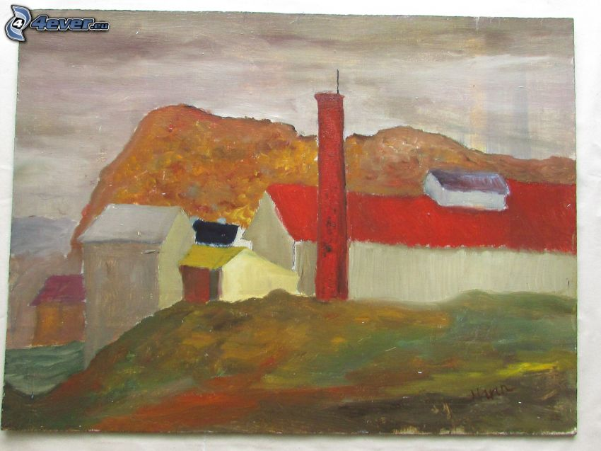 Haus, Malerei