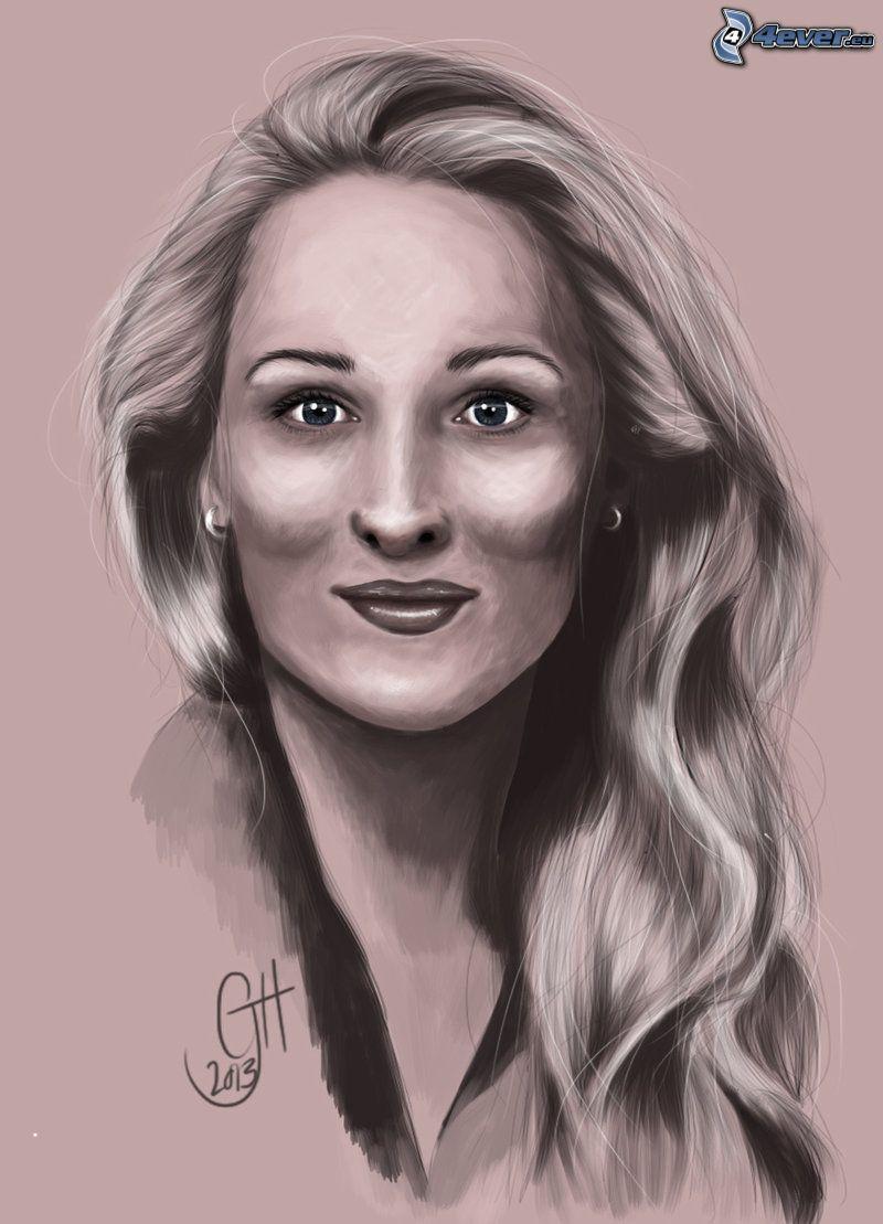 Meryl Streep, gezeichnete Frau
