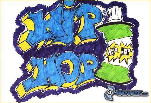 hip hop, Graffiti, Zeichnung