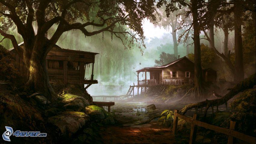 Hütten, Wald
