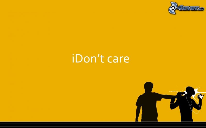 iDont't care, Mord, Menschen, Silhouetten, mp3-Player, Pistole, text
