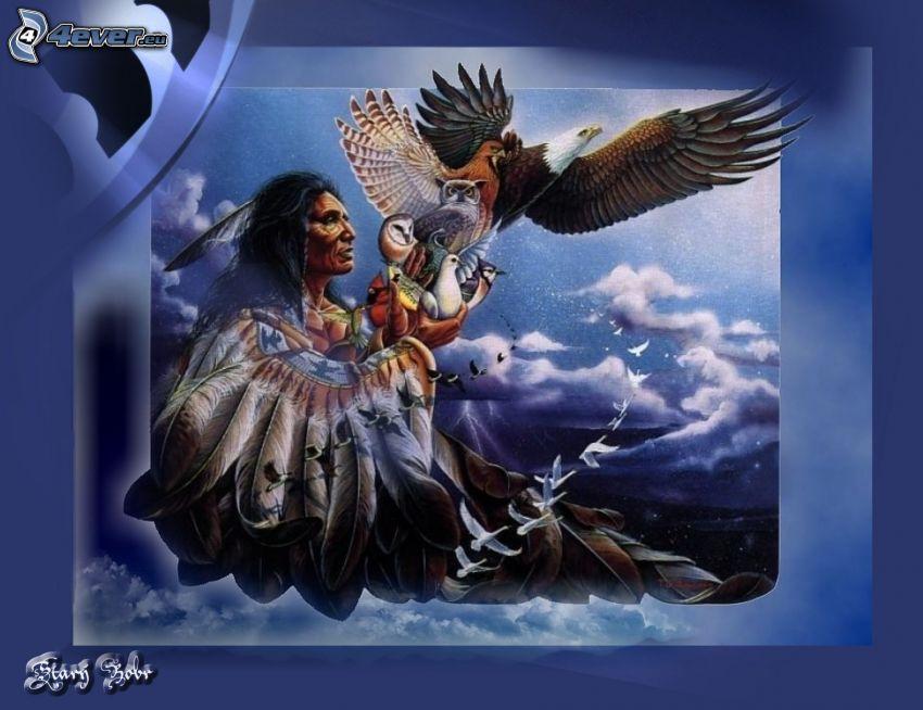 Indianer, Adler