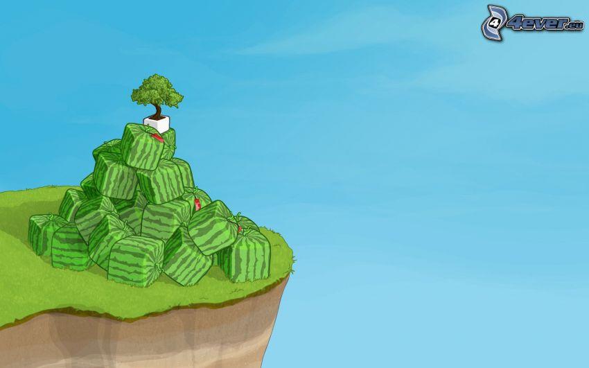Insel, Wassermelonen