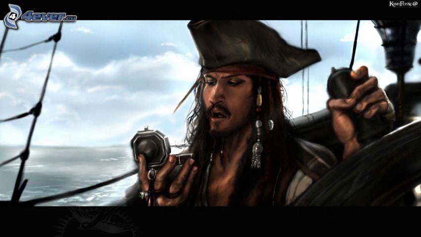 Jack Sparrow, Pirat