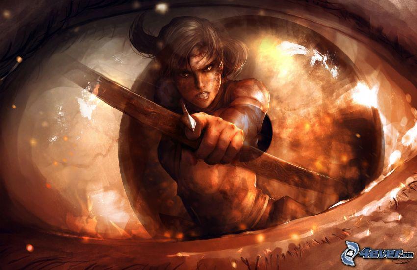 Kämpferin, Auge