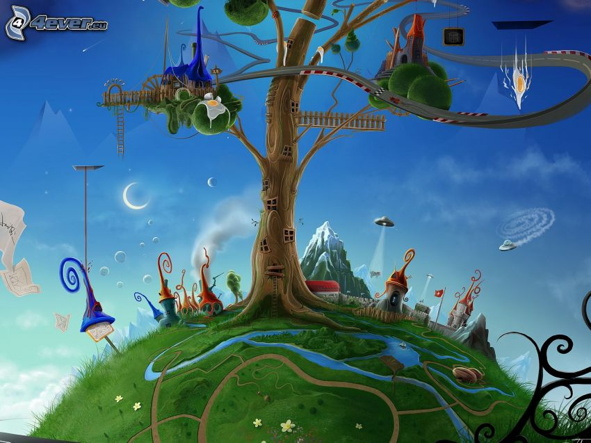 Karikatur-Baum