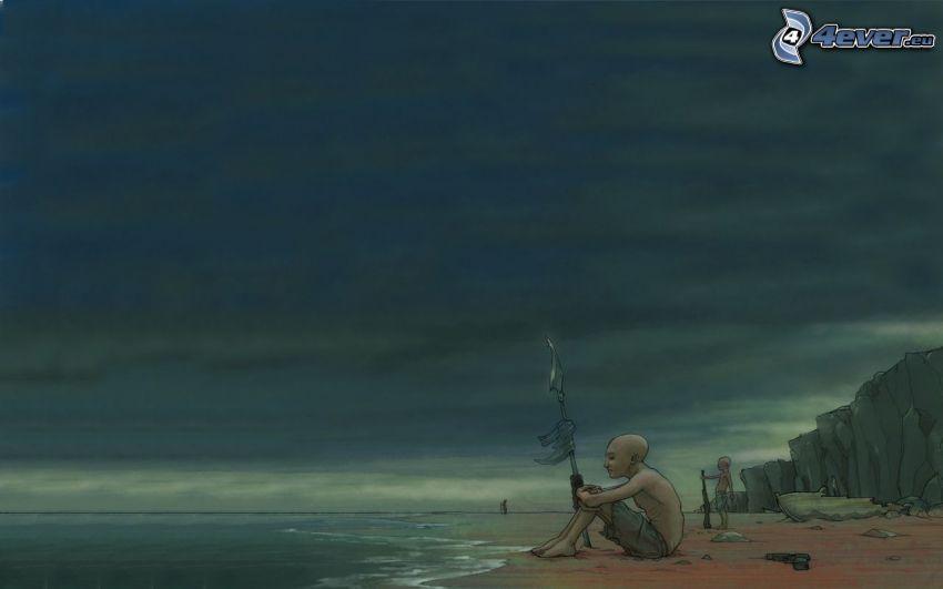Kerl am Strand