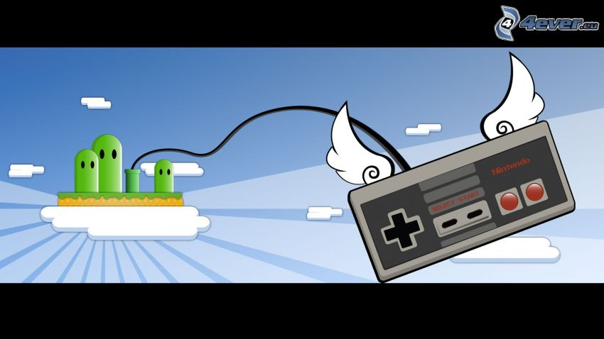 Nintendo, joystick, Flügel