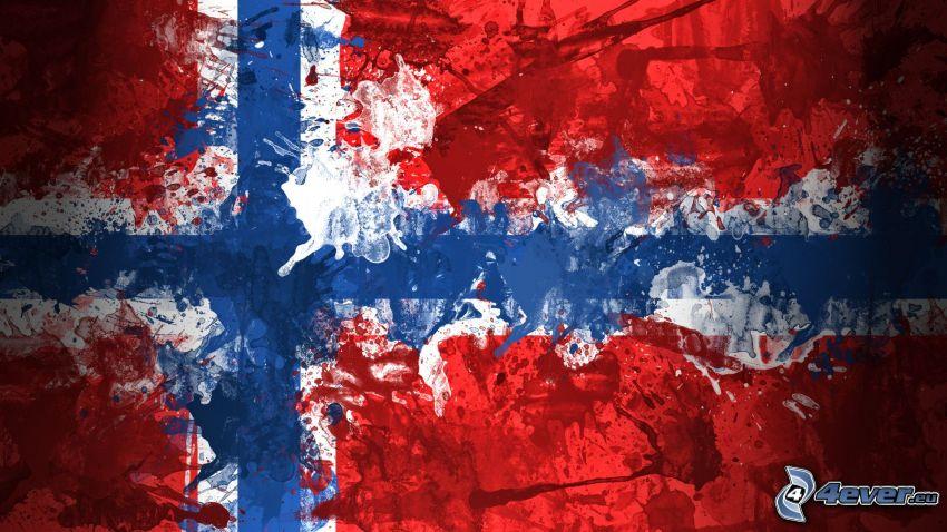 Norwegische Flagge, Kleckse