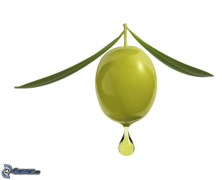Oliven, Tropfen