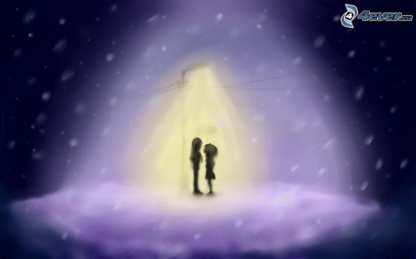 Paar, Lampe, Nacht
