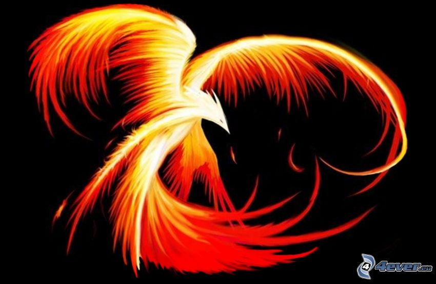 Phoenix, feuriger Vogel