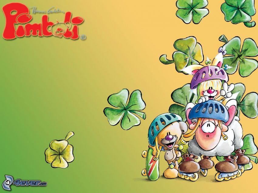 Pimboli, Lamm, Cartoon