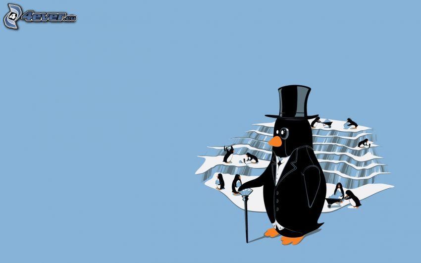 Pinguine, Gletscher