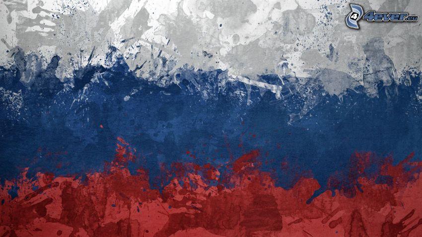 russische Flagge, Kleckse