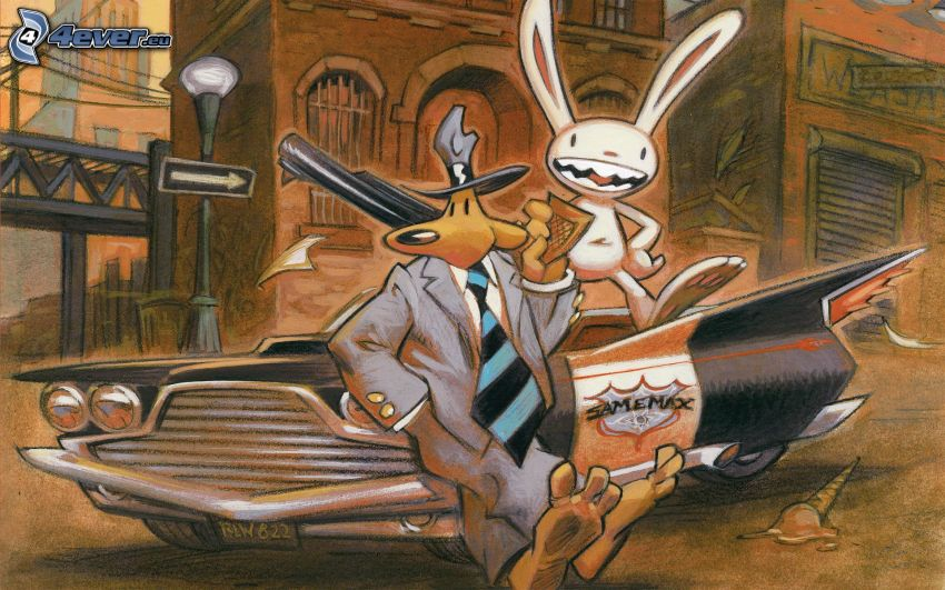 Sam Max, Detektiv, gezeichnetes Kaninchen