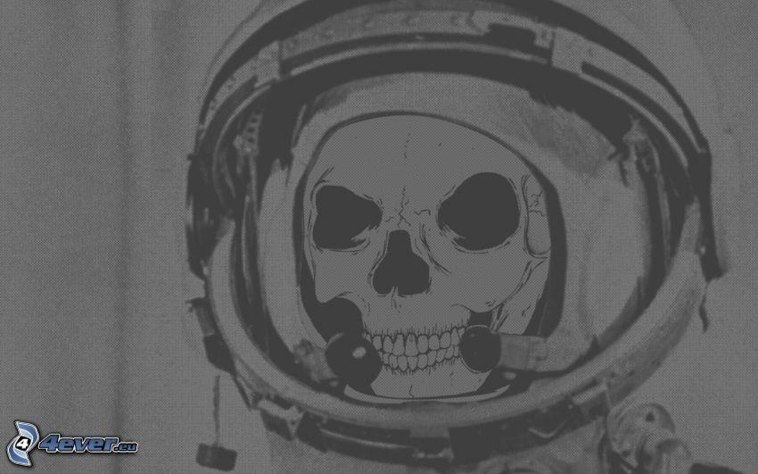 Schädel, Figürchen des Astronauts