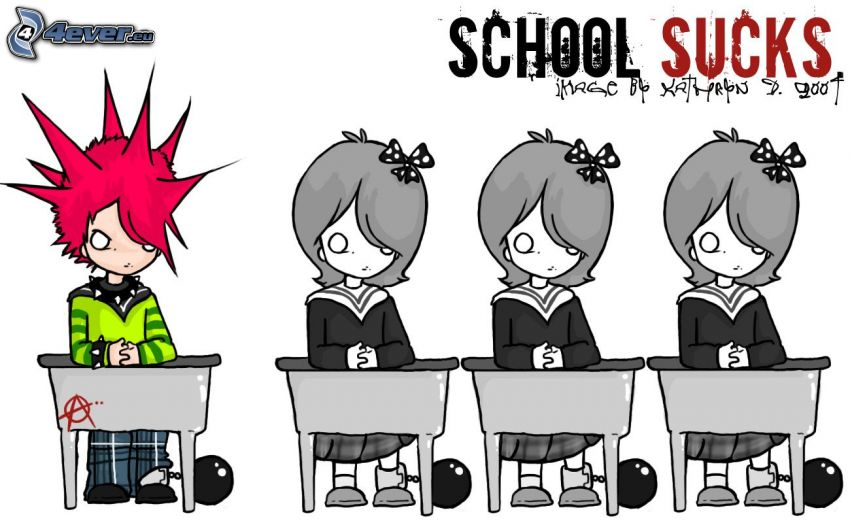 school sucks, punk