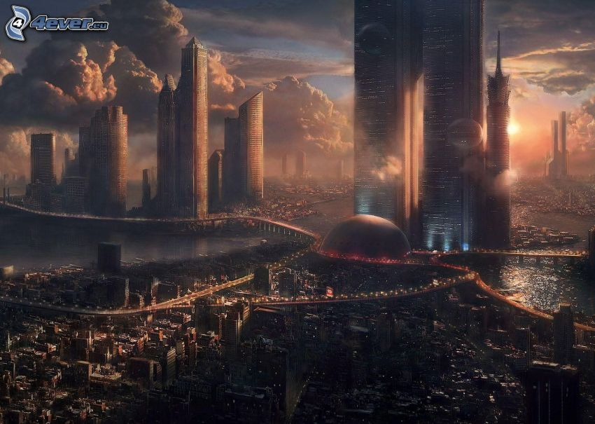 Sci-fi Stadt