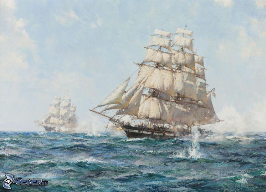 Segelboote, Meer