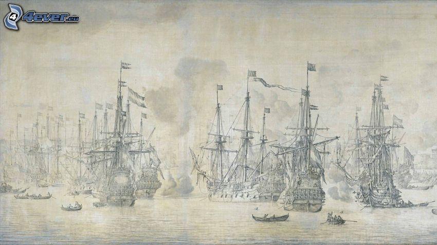 Segelboote, Schiffen
