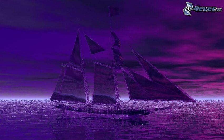 Segelschiff, Meer