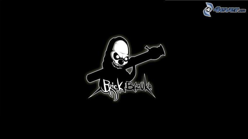 Sensenmann, Schädel, Bazooka