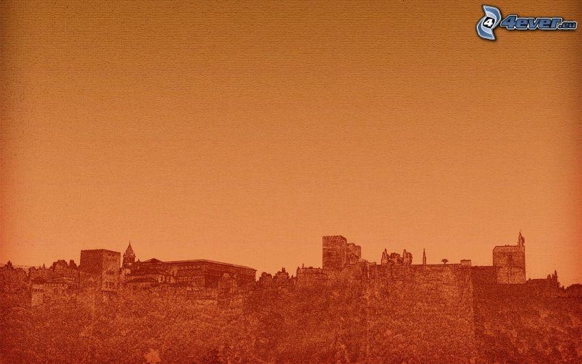 Silhouette, City, Schanzen