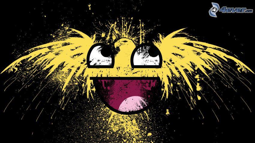 Smiley, Feuerwerk