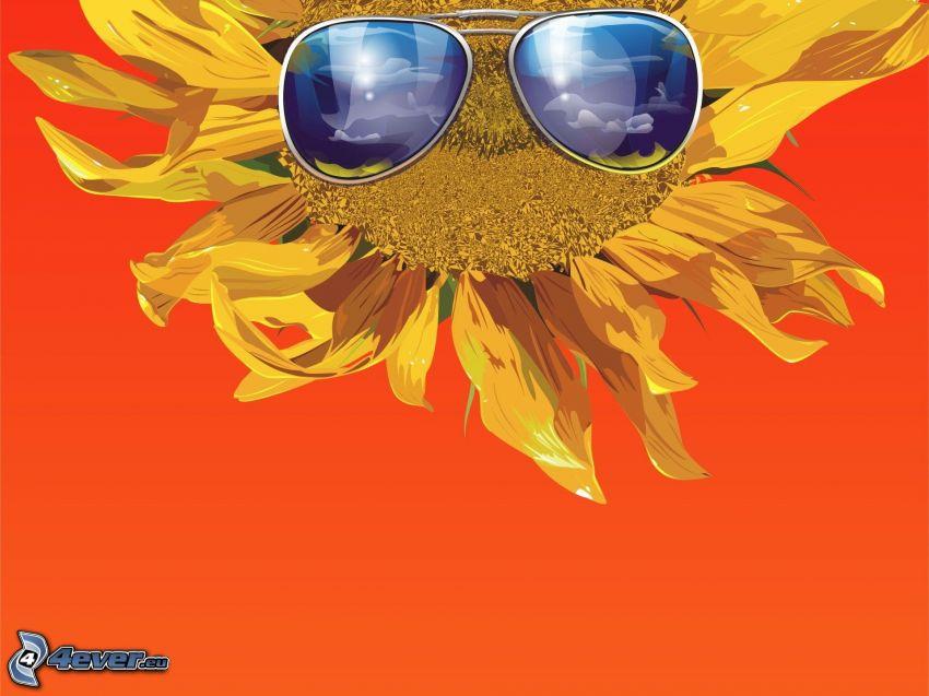 Sonnenblume, Sonnenbrille