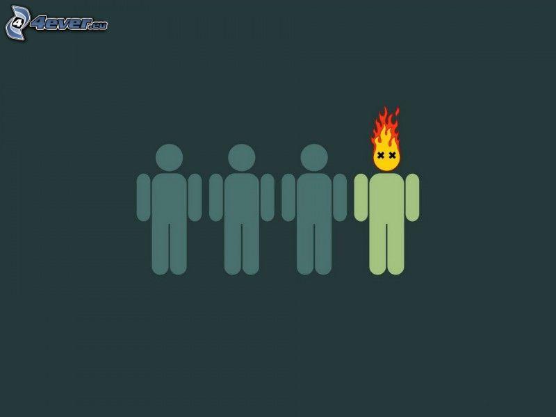 Stickmänner, Flamme