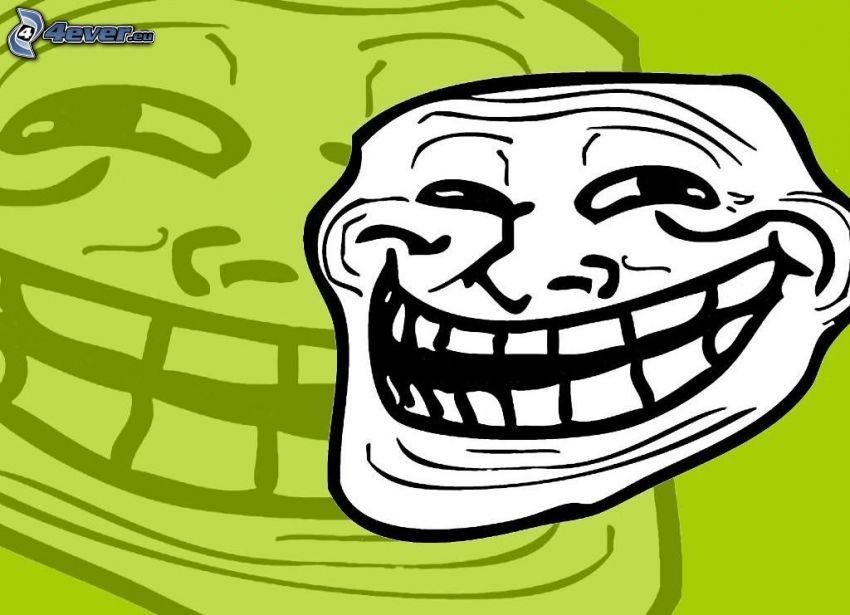 troll face, Lächeln