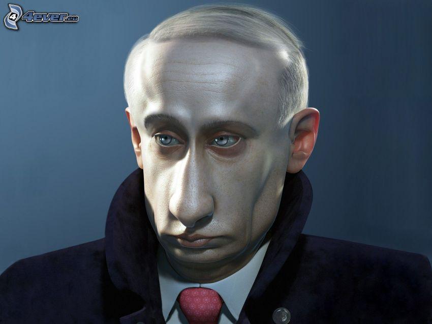Vladimir Putin, Karikatur