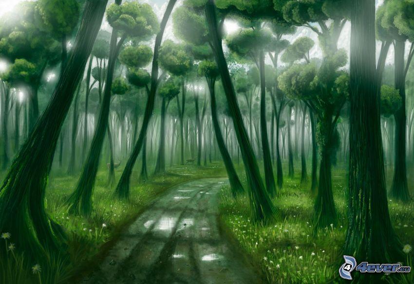 Waldweg, Wald