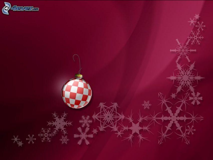 Weihnachtshintergrund, Weihnachtskugel