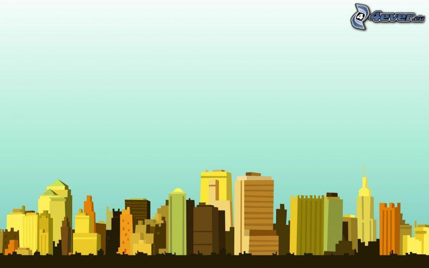 Wolkenkratzer, City
