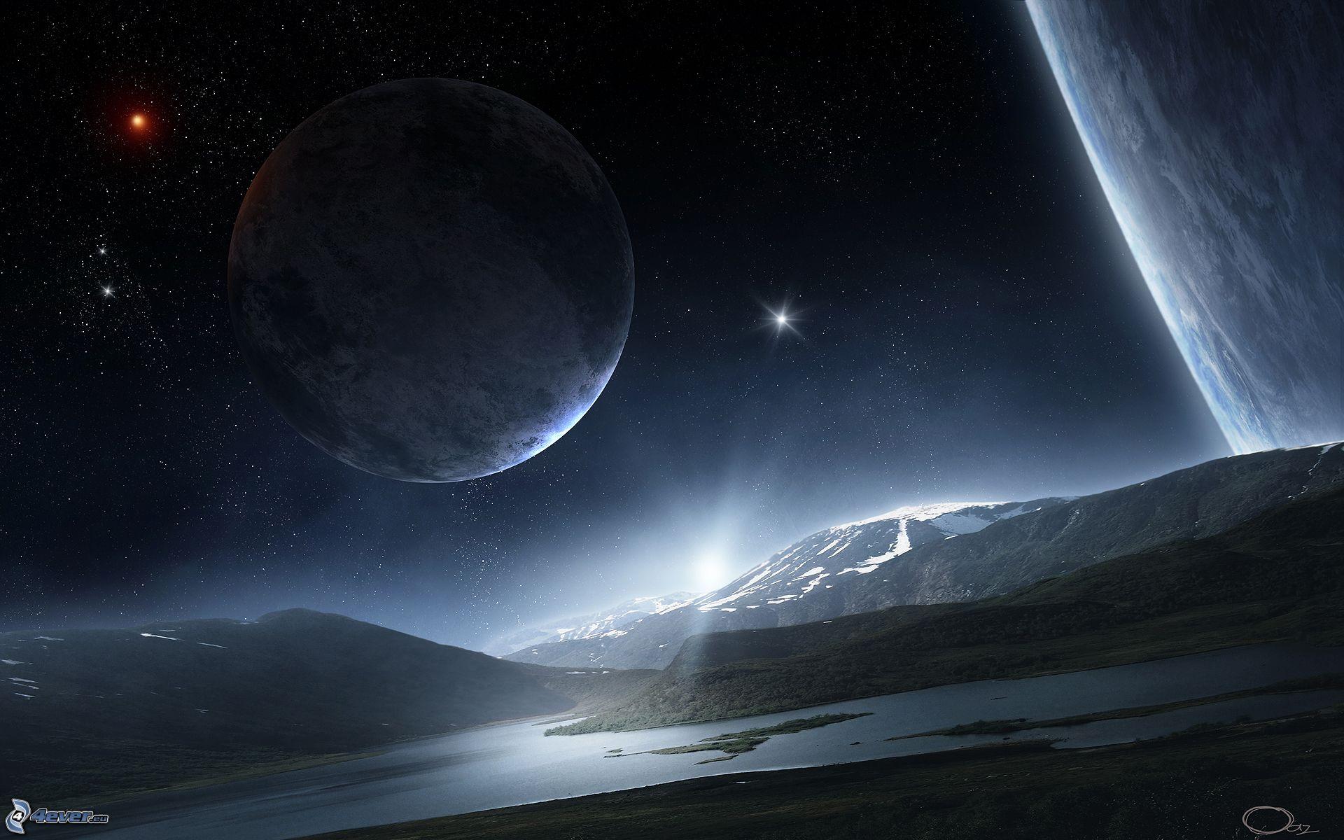 weltall sterne und planeten