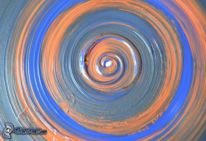 abstrakt målning, cirklar