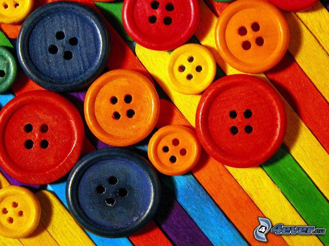 knappar, färger