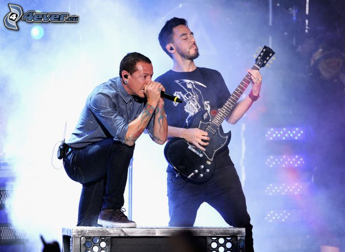 Mike Shinoda, Chester Bennington, Linkin Park, konsert