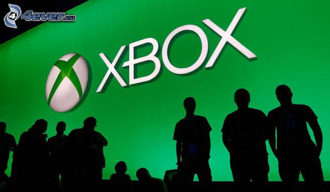 Xbox, silhuetter av människor
